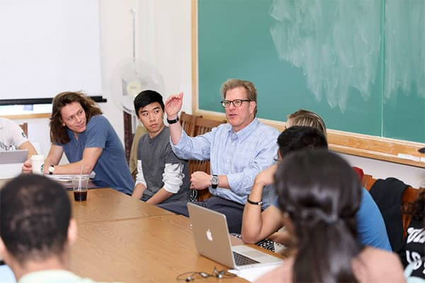 Cornell Professor with students